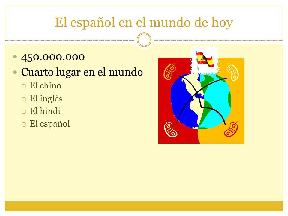 El español en el mundo de hoy