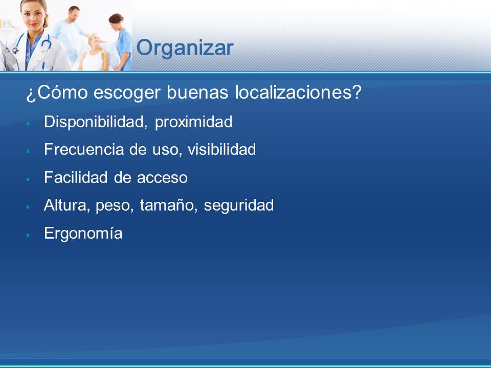 Organizar ¿Cómo escoger buenas localizaciones