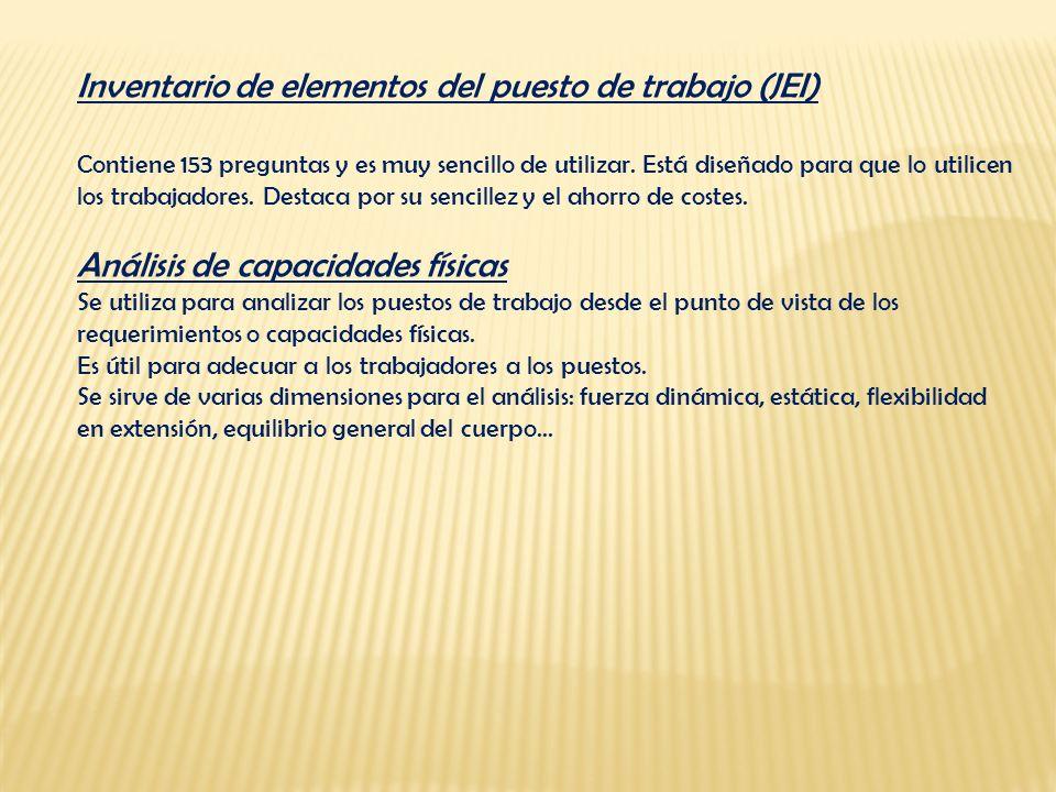 Inventario de elementos del puesto de trabajo (JEI)