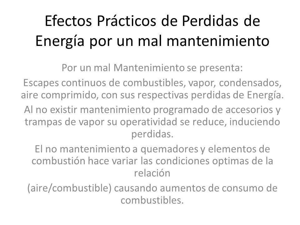 Efectos Prácticos de Perdidas de Energía por un mal mantenimiento