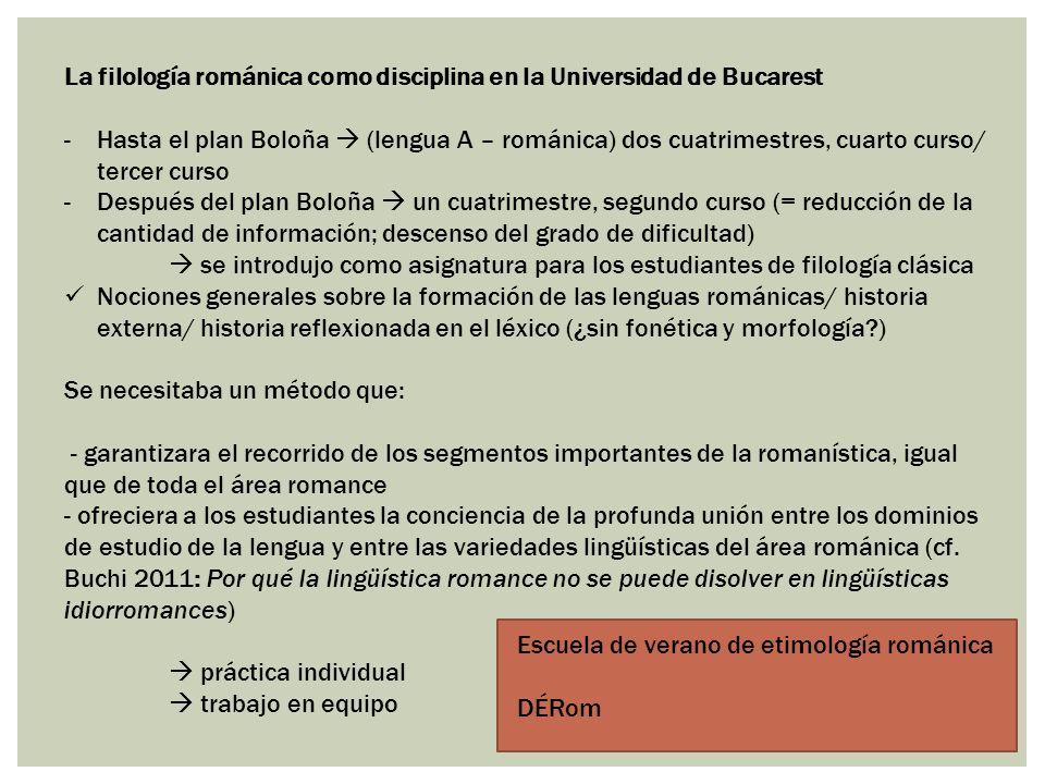 La filología románica como disciplina en la Universidad de Bucarest