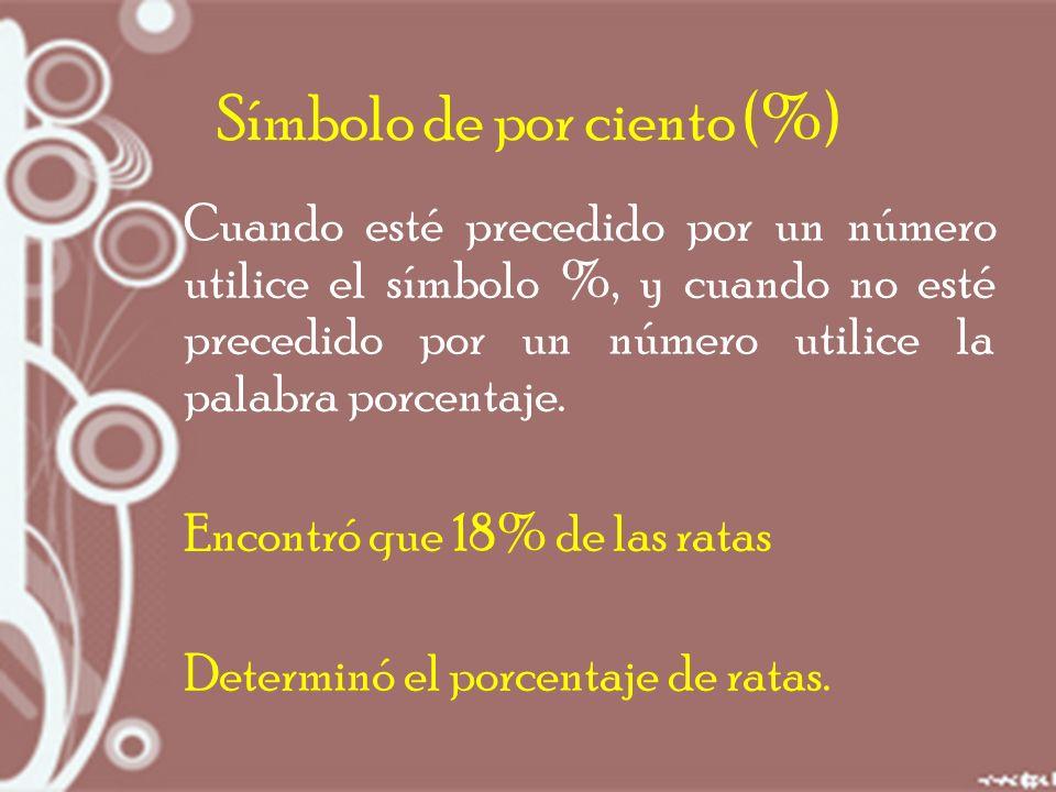 Símbolo de por ciento (%)