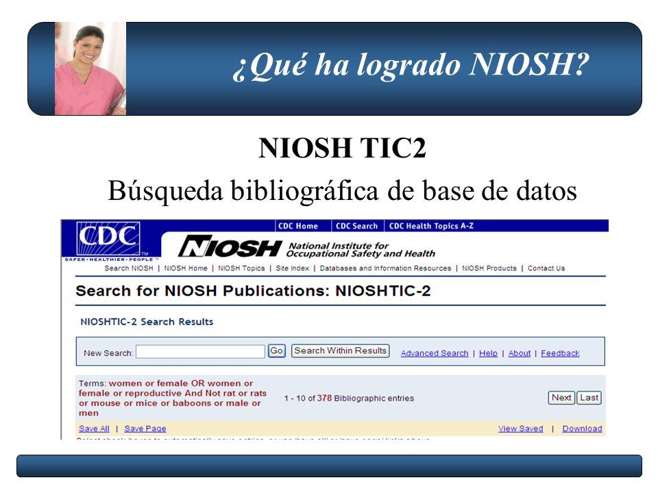 Búsqueda bibliográfica de base de datos