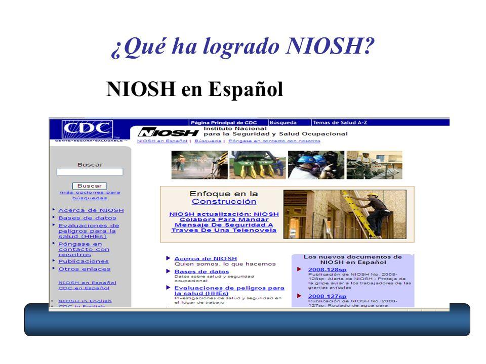 ¿Qué ha logrado NIOSH NIOSH en Español