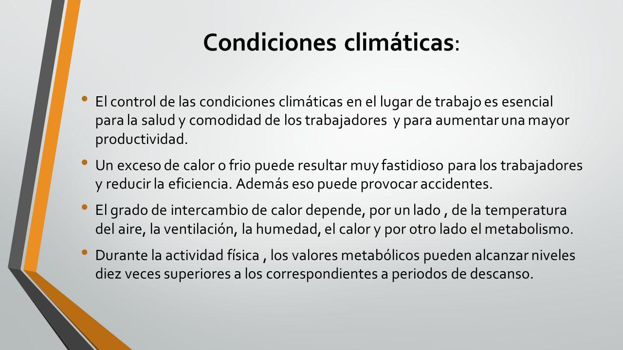 Condiciones climáticas: