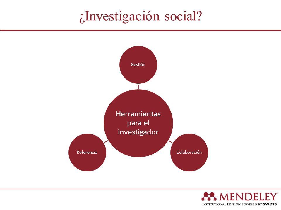 ¿Investigación social