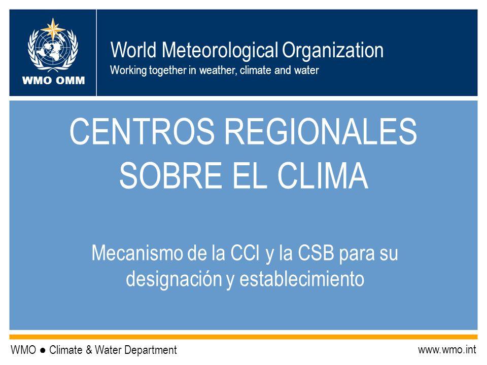 CENTROS REGIONALES SOBRE EL CLIMA
