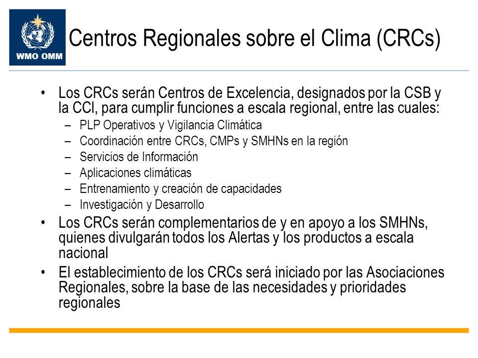 Centros Regionales sobre el Clima (CRCs)