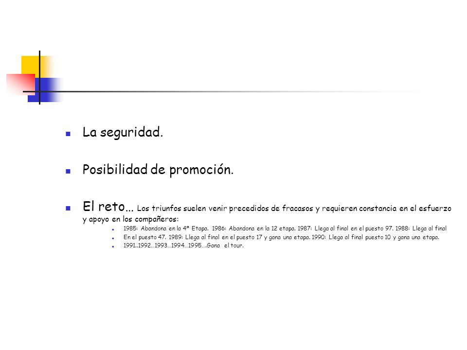 Posibilidad de promoción.