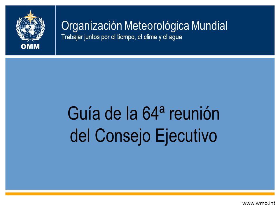 Guía de la 64ª reunión del Consejo Ejecutivo