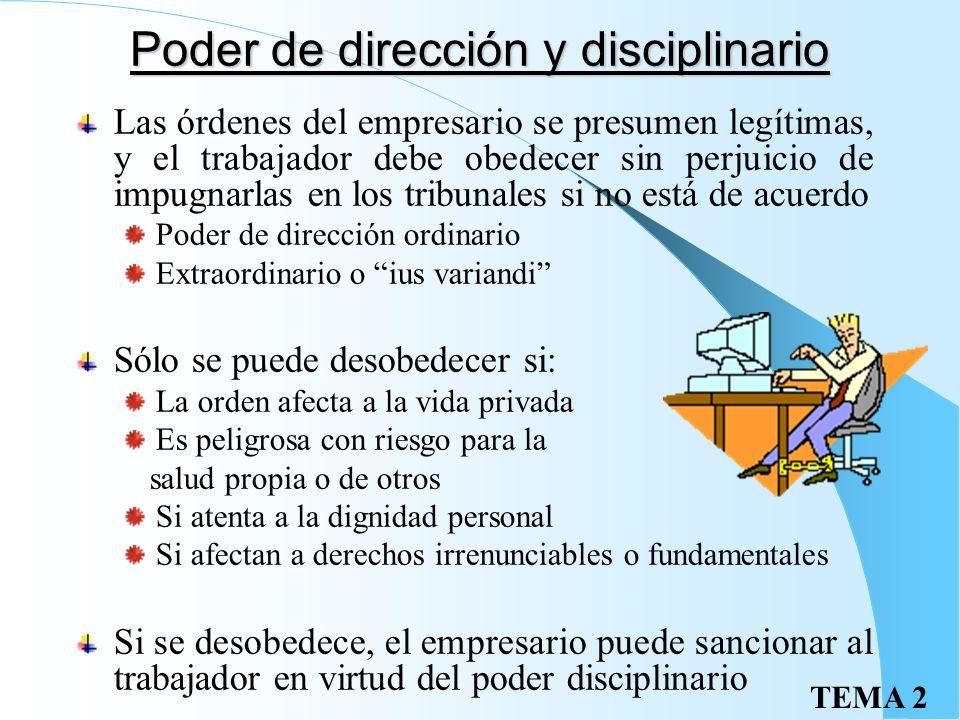 Poder de dirección y disciplinario