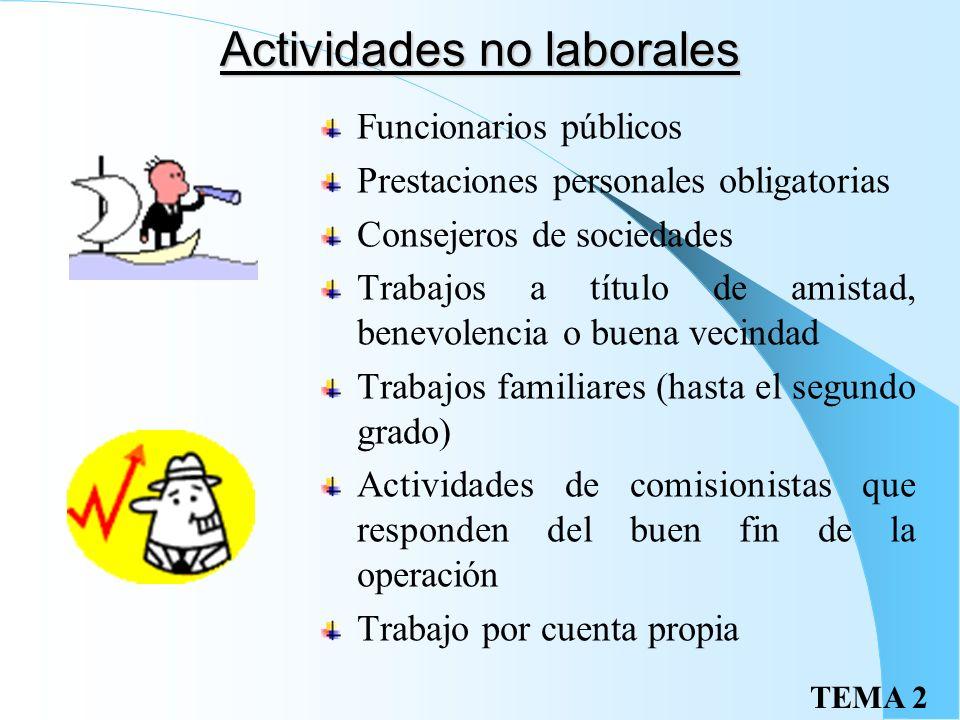 Actividades no laborales
