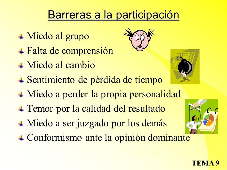 Barreras a la participación