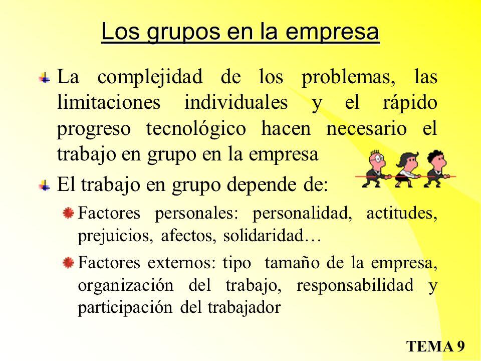 Los grupos en la empresa