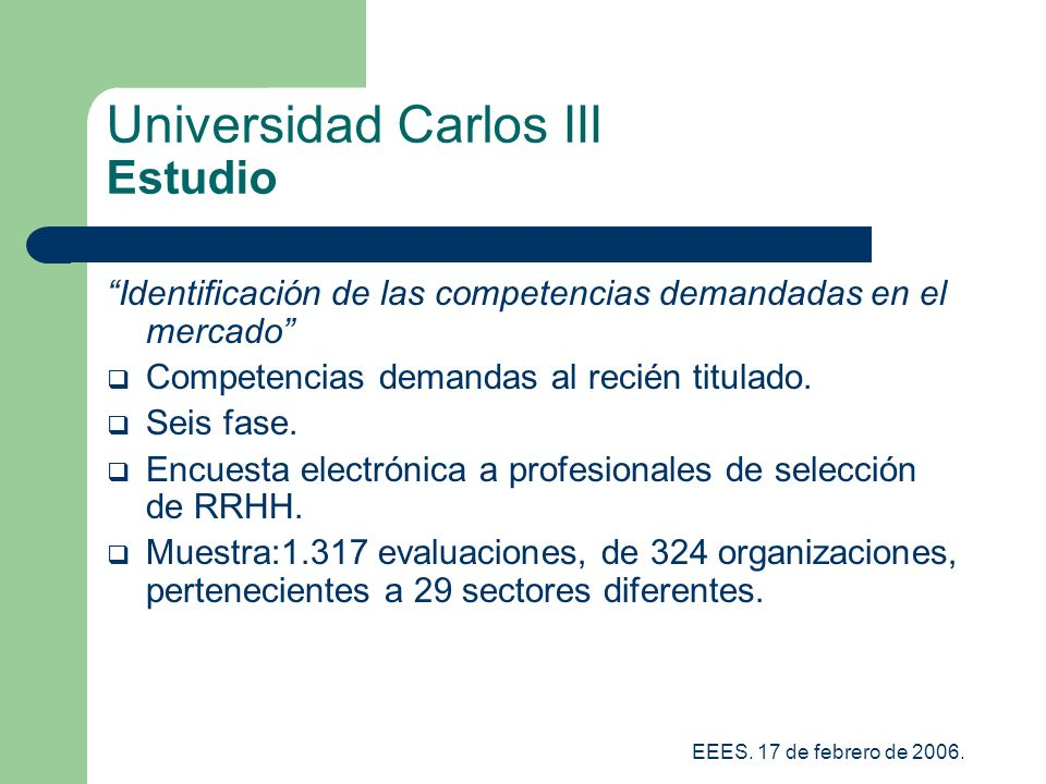 Universidad Carlos III Estudio