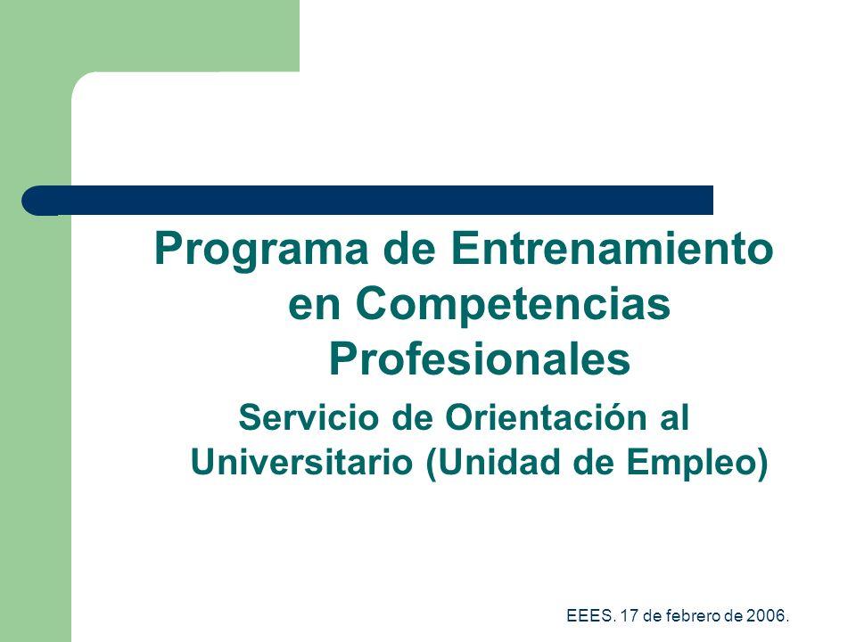 Programa de Entrenamiento en Competencias Profesionales