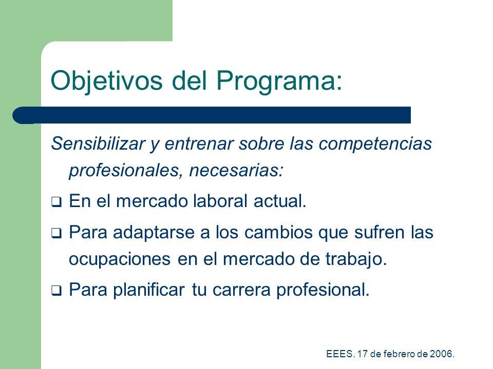 Objetivos del Programa: