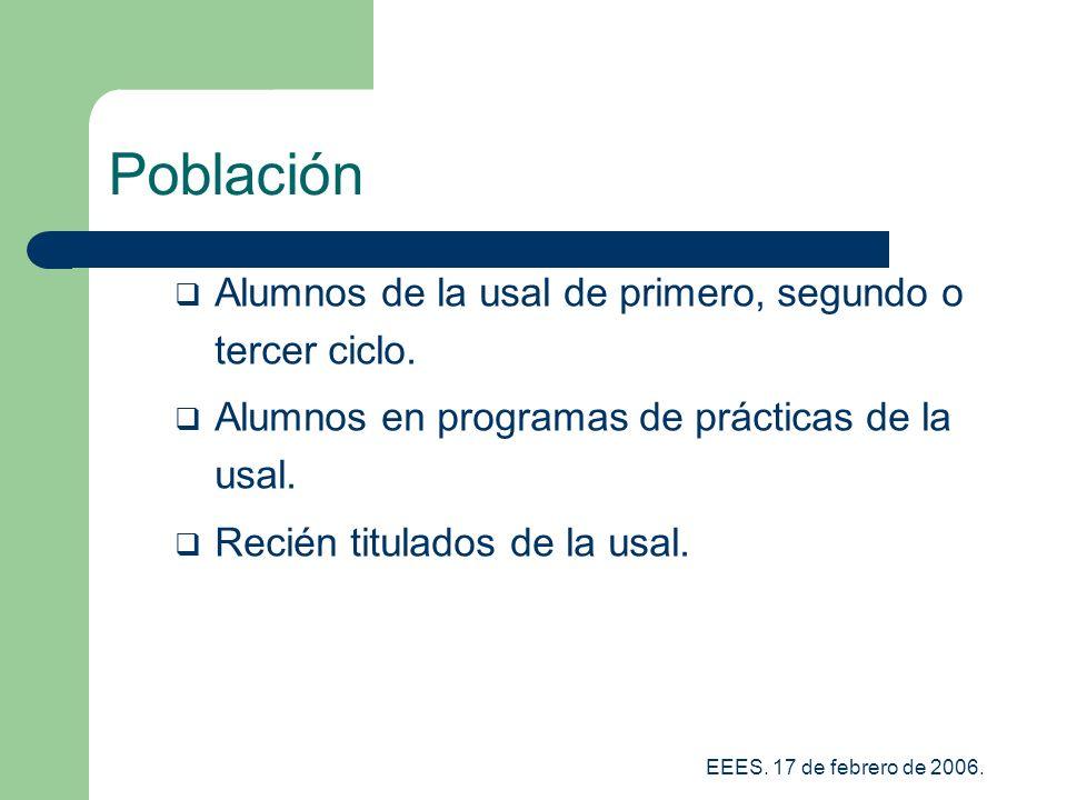 Población Alumnos de la usal de primero, segundo o tercer ciclo.