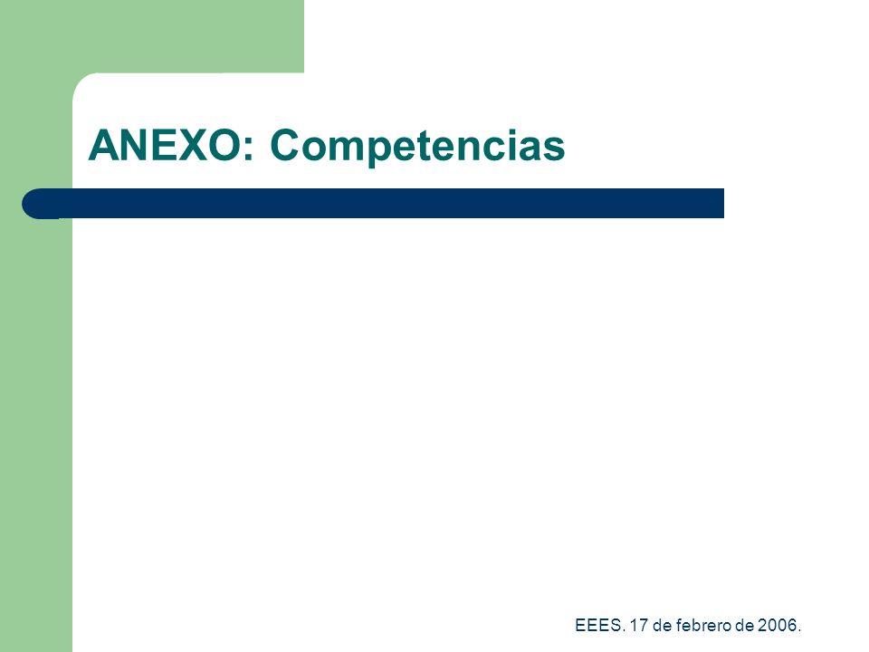 ANEXO: Competencias EEES. 17 de febrero de 2006.