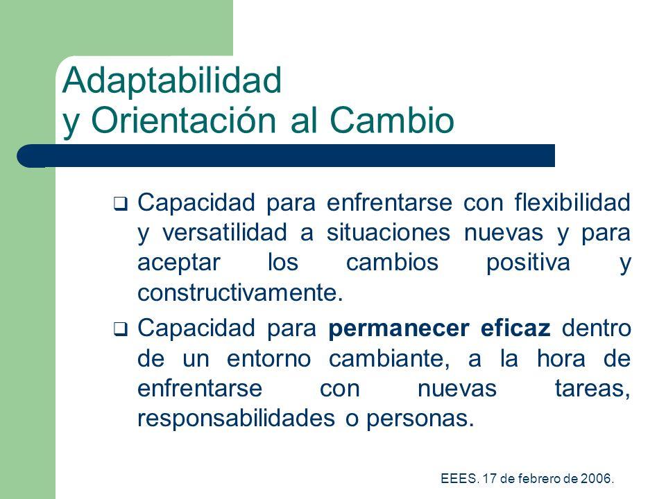 Adaptabilidad y Orientación al Cambio