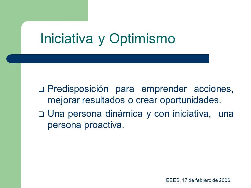 Iniciativa y Optimismo