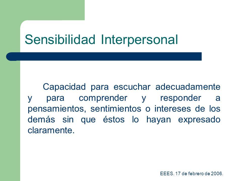 Sensibilidad Interpersonal