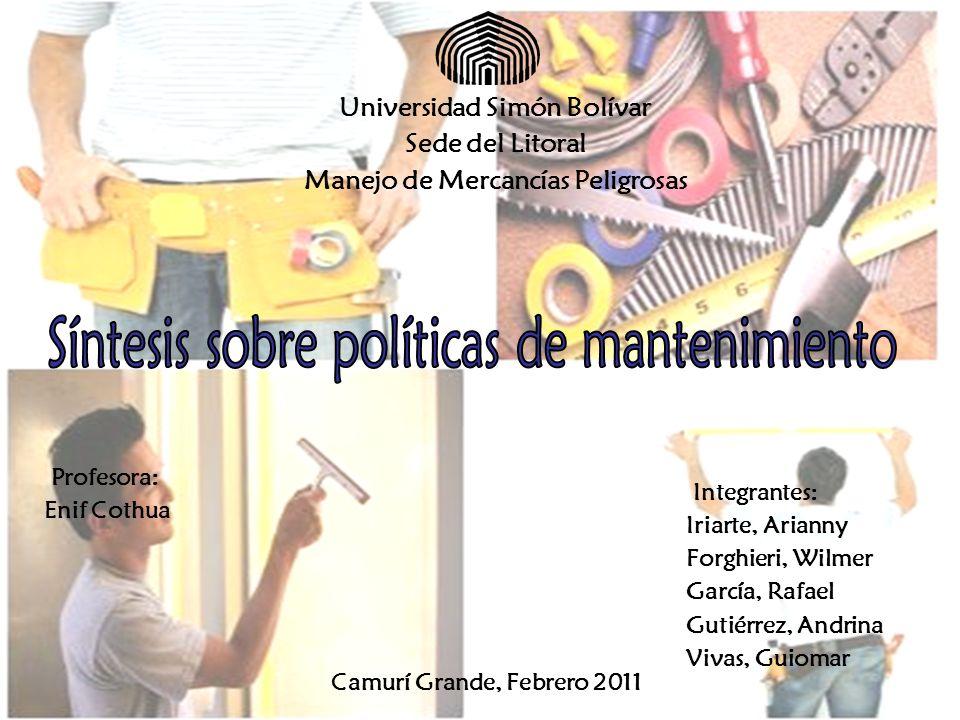 Universidad Simón Bolívar Manejo de Mercancías Peligrosas