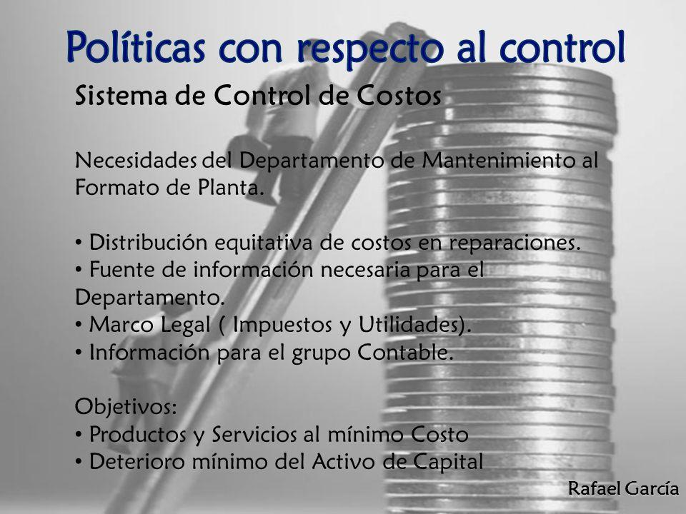 Políticas con respecto al control