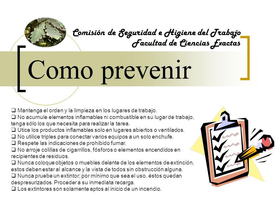 Como prevenir Comisión de Seguridad e Higiene del Trabajo