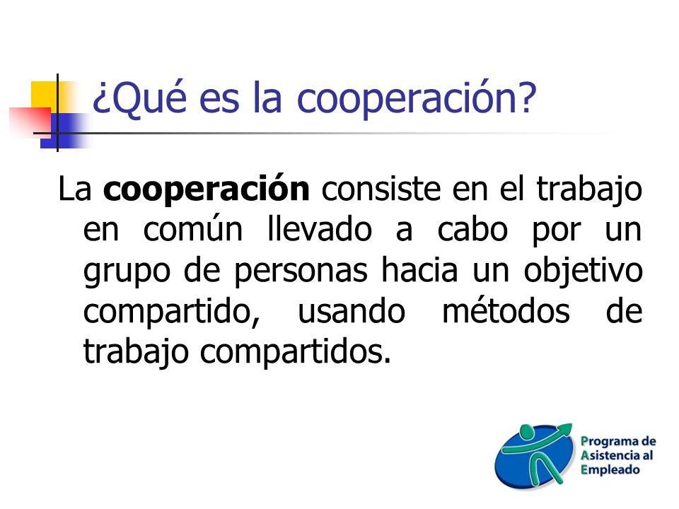 ¿Qué es la cooperación