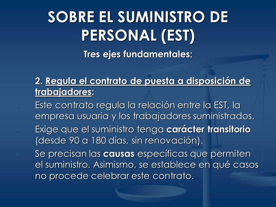 SOBRE EL SUMINISTRO DE PERSONAL (EST)