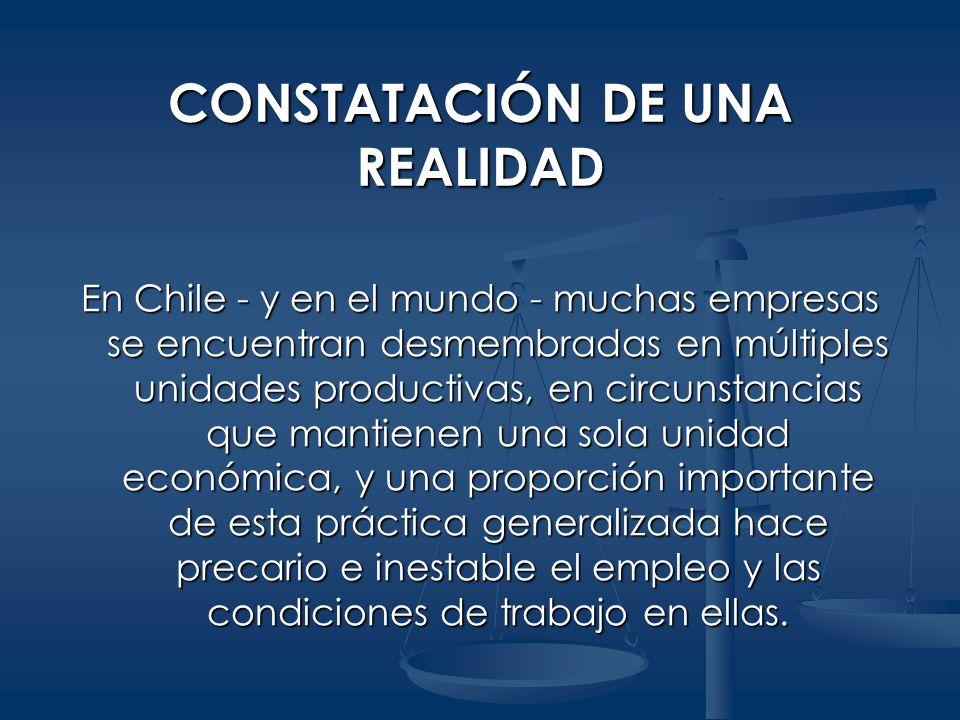 CONSTATACIÓN DE UNA REALIDAD