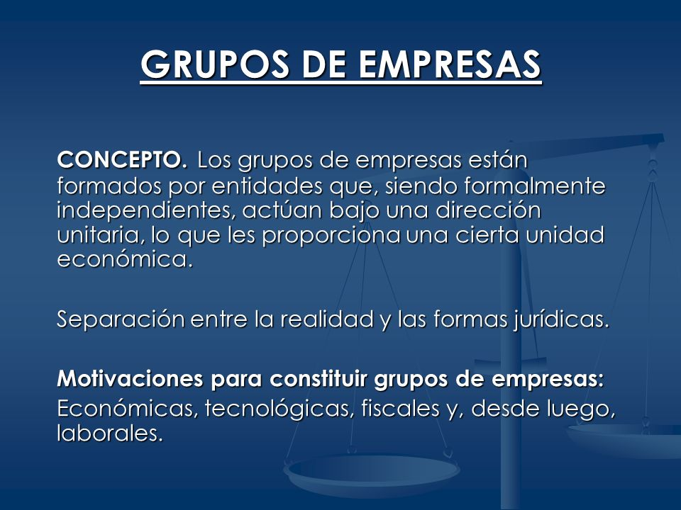 GRUPOS DE EMPRESAS