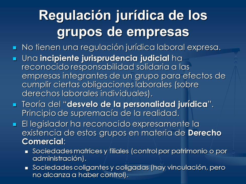 Regulación jurídica de los grupos de empresas
