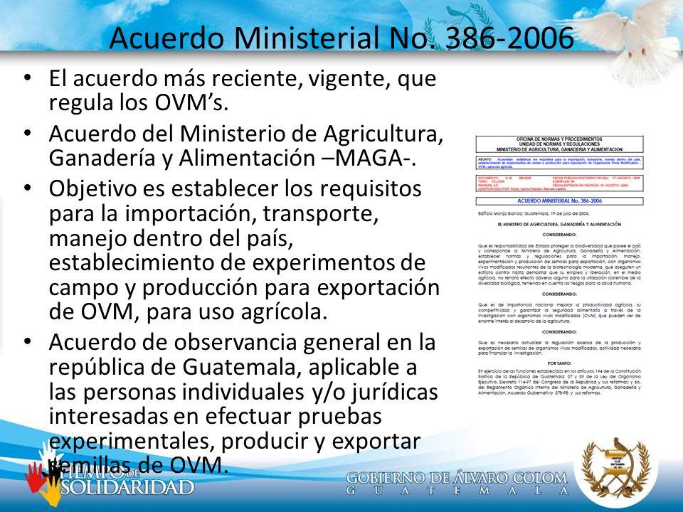 Acuerdo Ministerial No. 386-2006