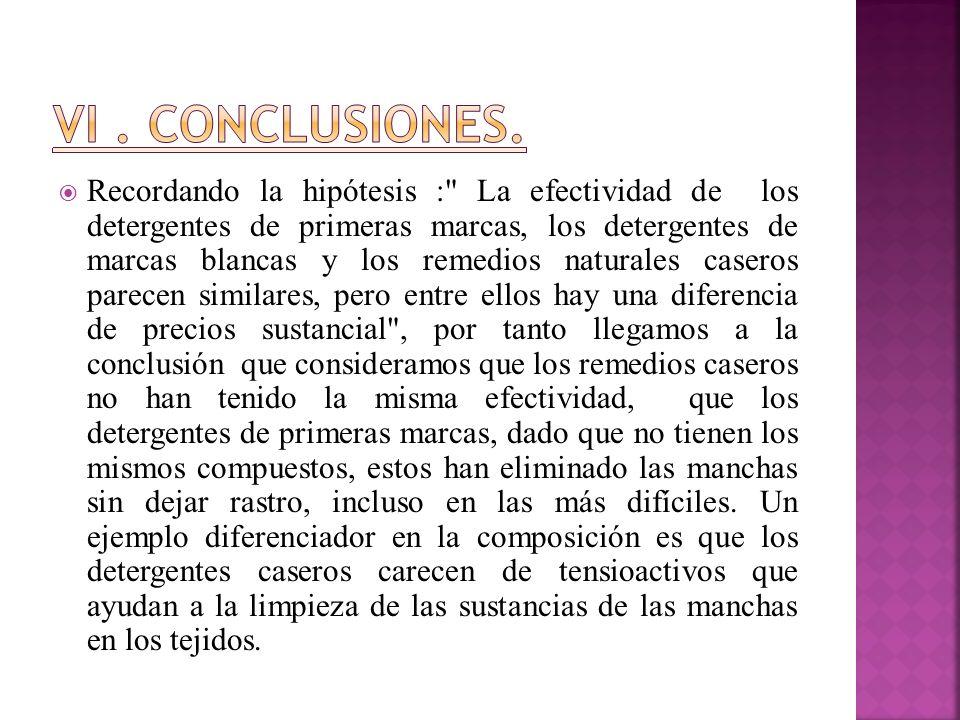 VI . Conclusiones.