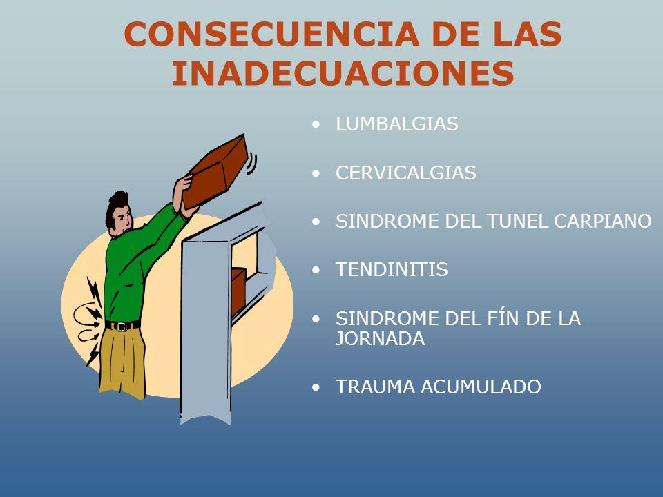 CONSECUENCIA DE LAS INADECUACIONES