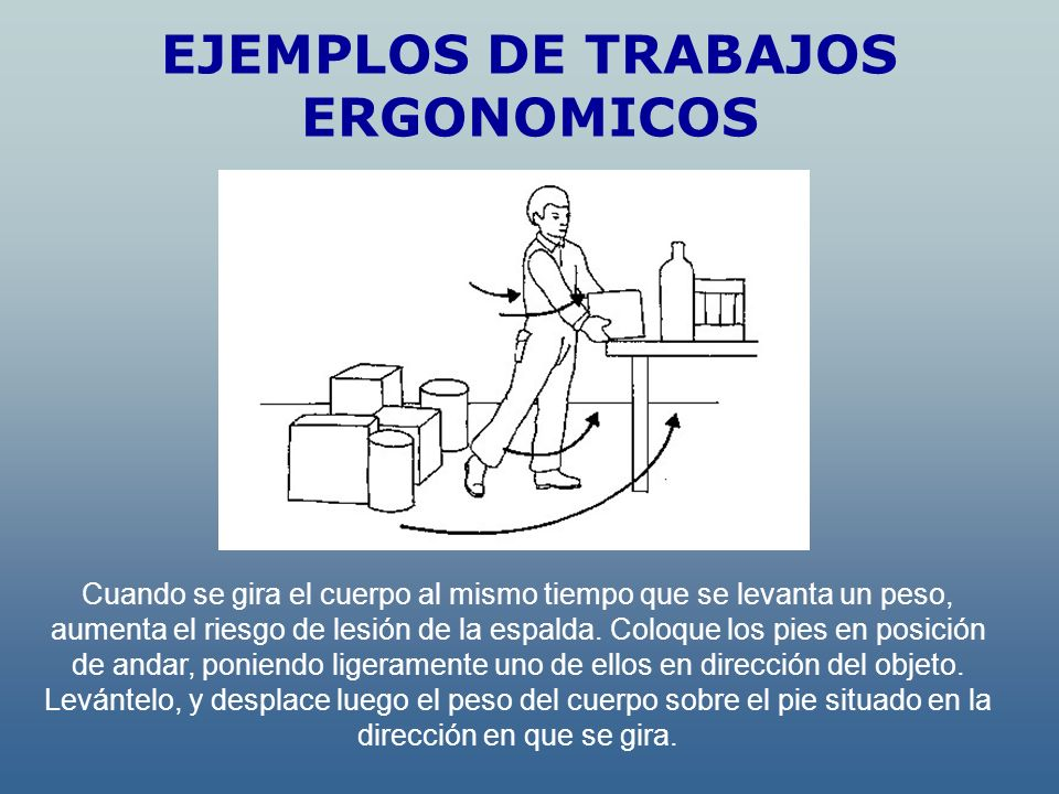 EJEMPLOS DE TRABAJOS ERGONOMICOS