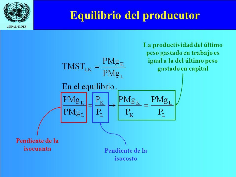 Equilibrio del producutor