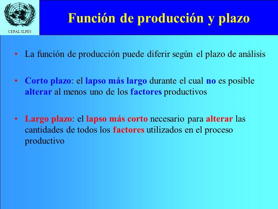 Función de producción y plazo