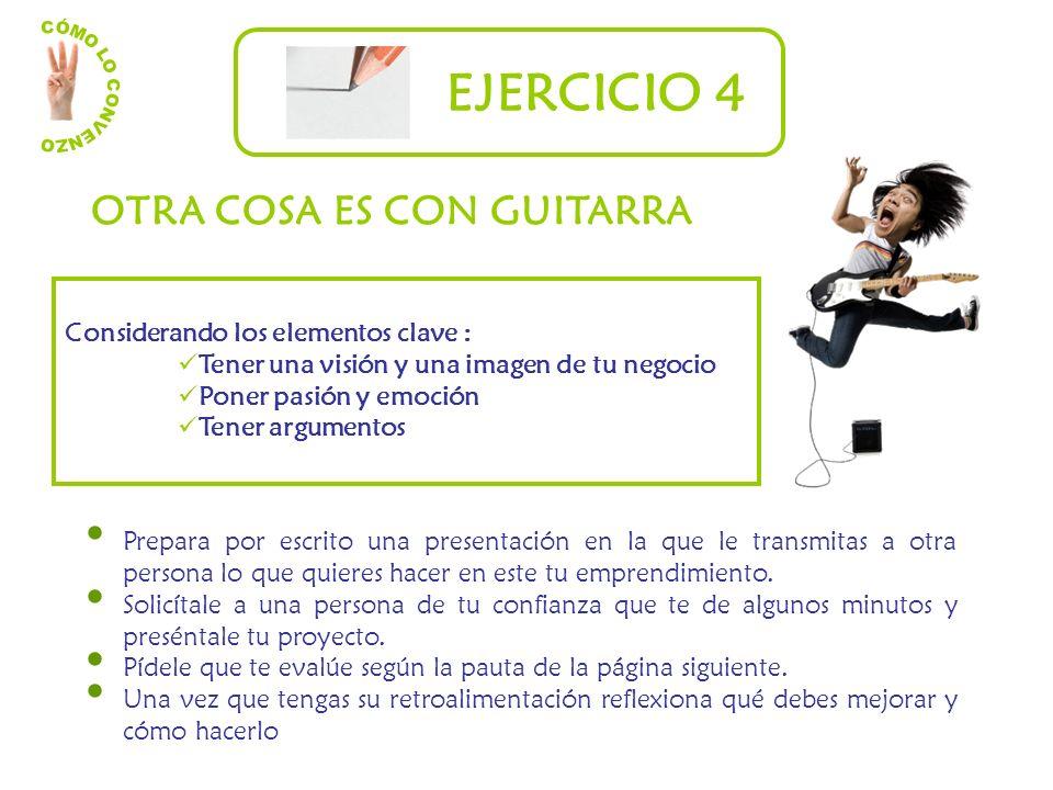 EJERCICIO 4 OTRA COSA ES CON GUITARRA