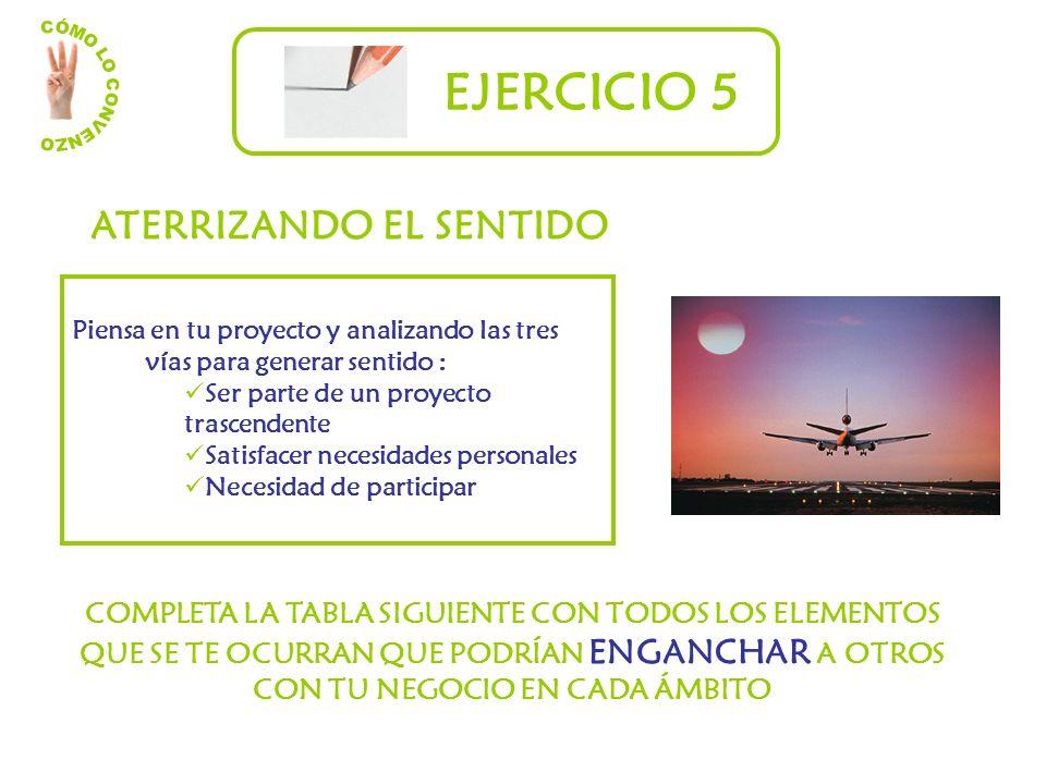 EJERCICIO 5 ATERRIZANDO EL SENTIDO