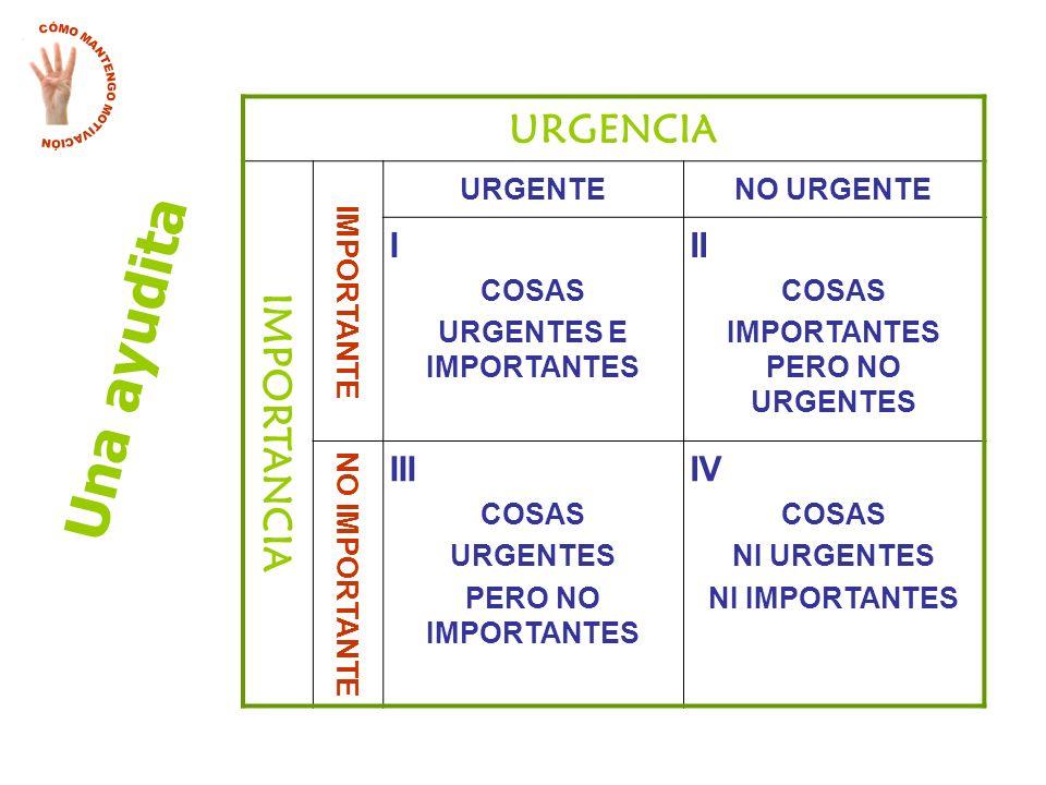 URGENTES E IMPORTANTES