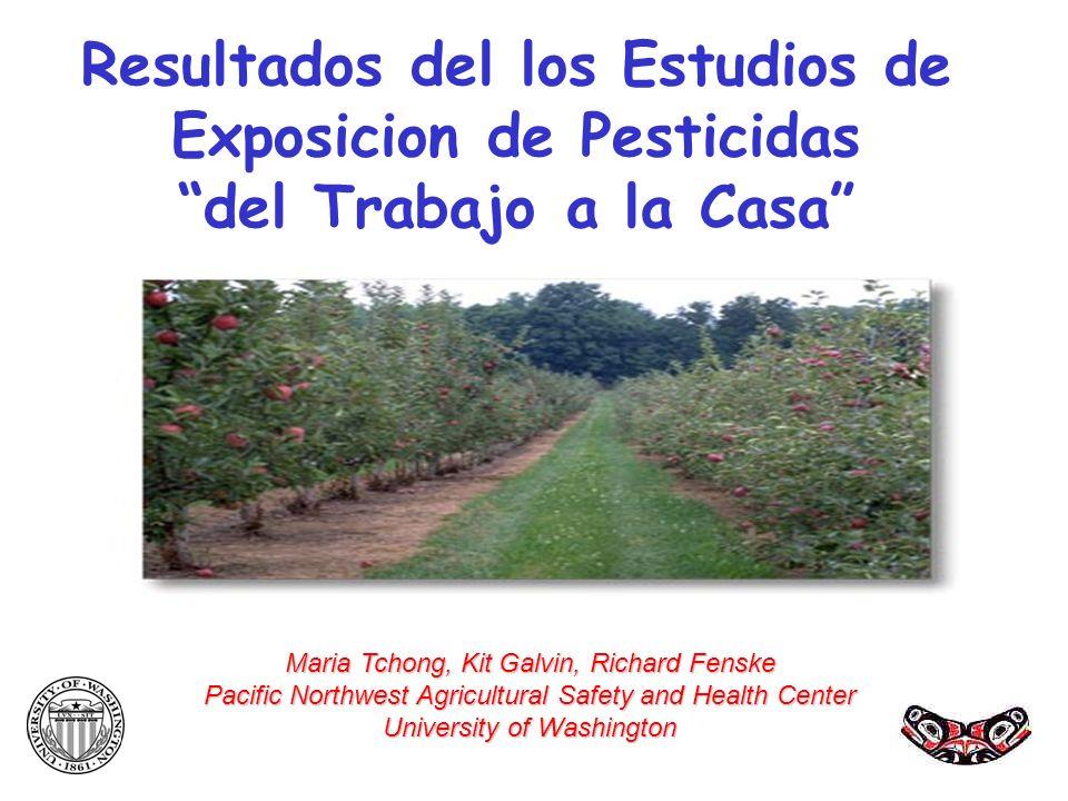 Resultados del los Estudios de Exposicion de Pesticidas del Trabajo a la Casa