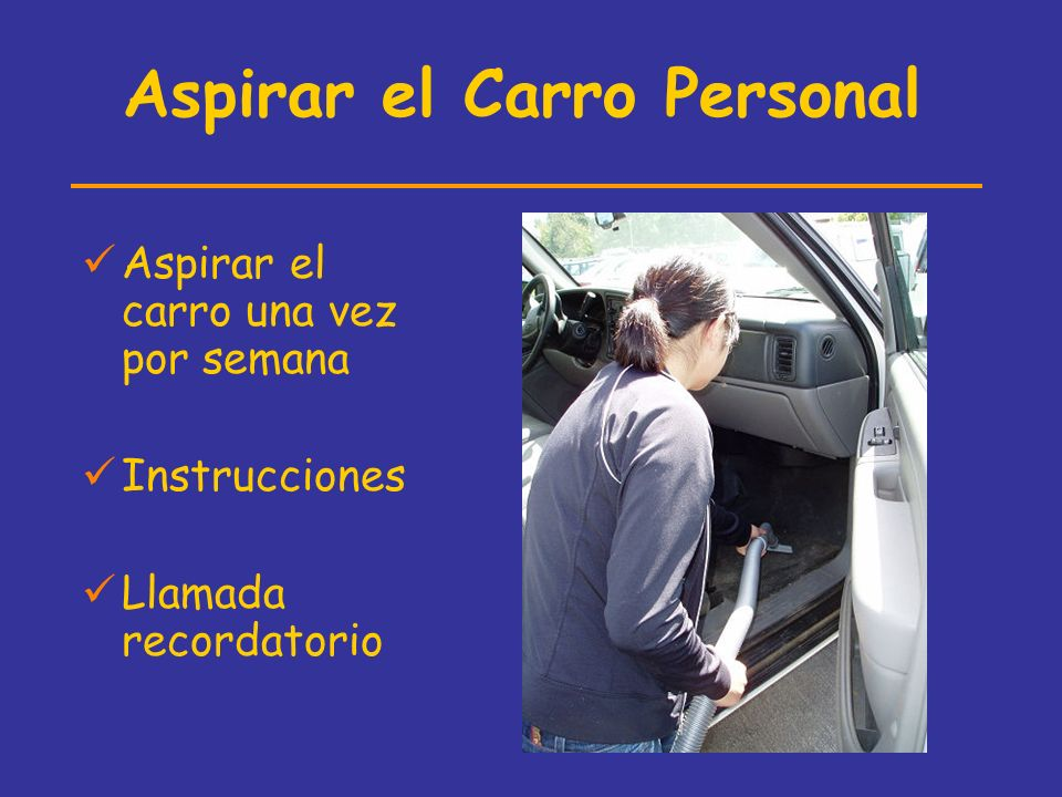 Aspirar el Carro Personal