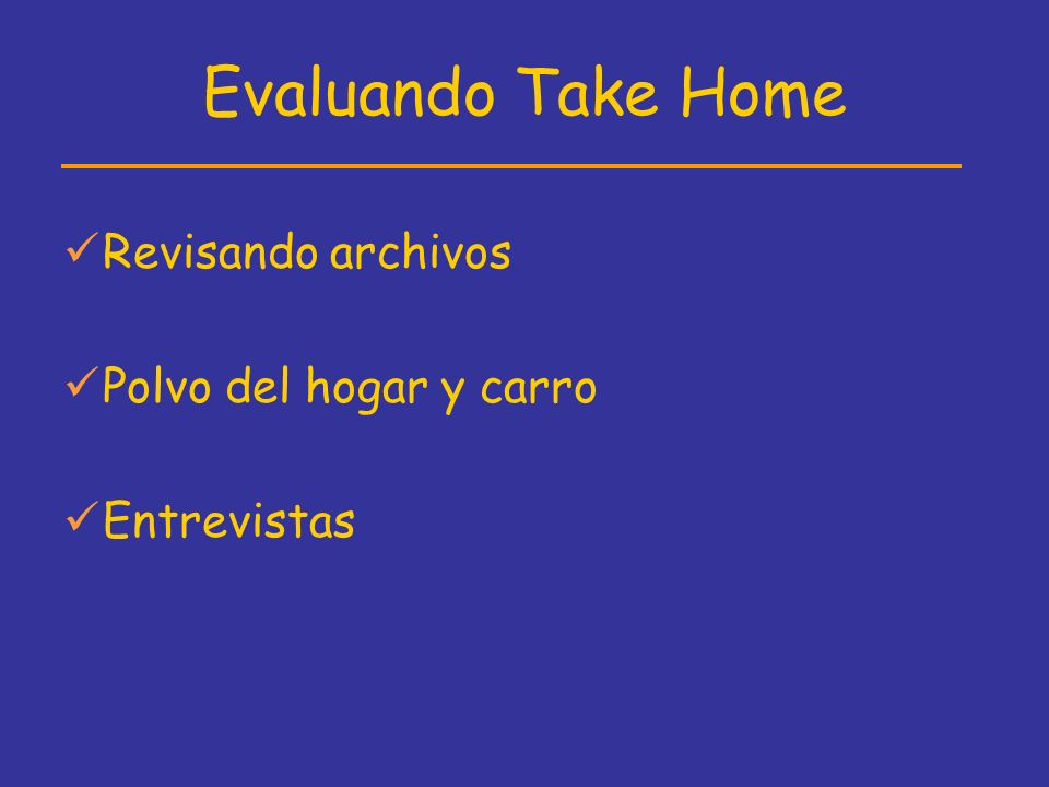 Evaluando Take Home Revisando archivos Polvo del hogar y carro