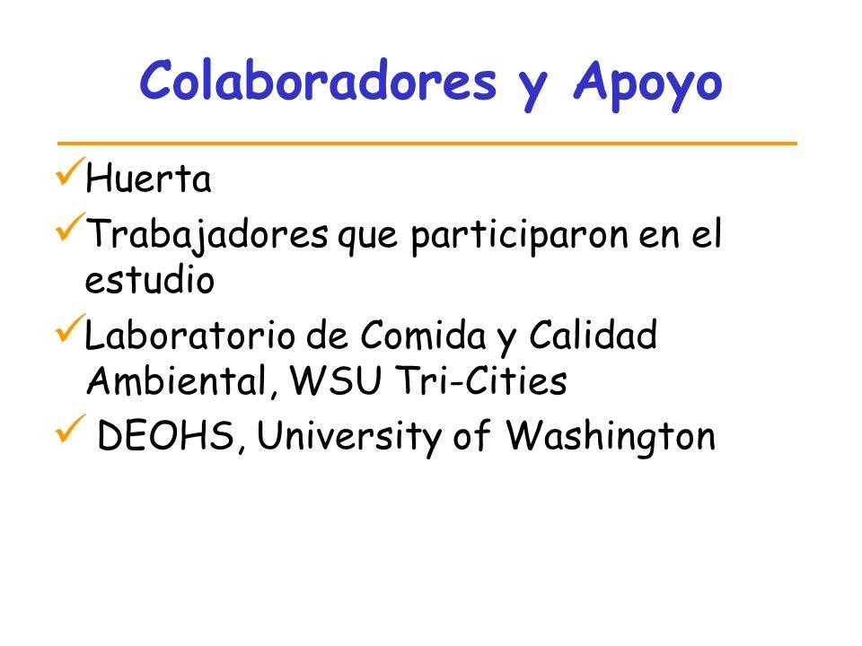 Colaboradores y Apoyo Huerta