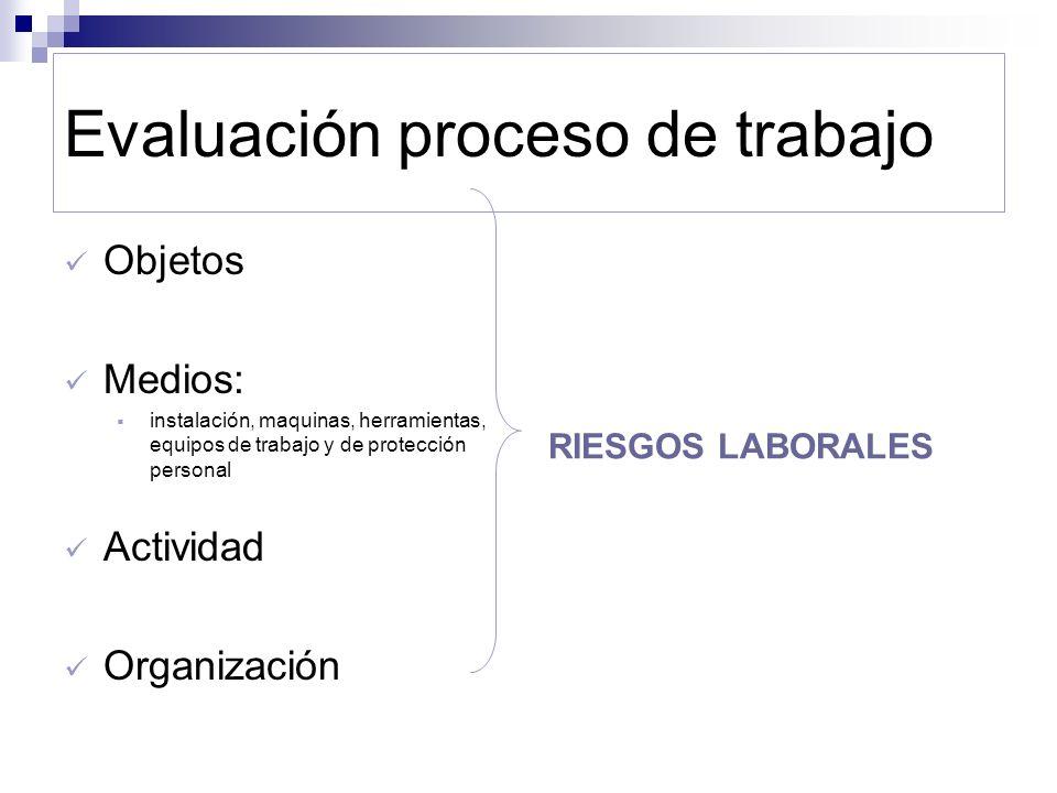 Evaluación proceso de trabajo