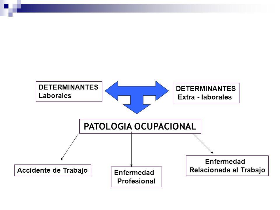 PATOLOGIA OCUPACIONAL Relacionada al Trabajo