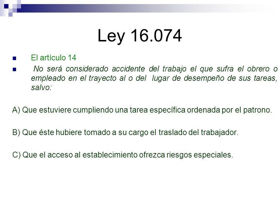 Ley 16.074 El artículo 14.